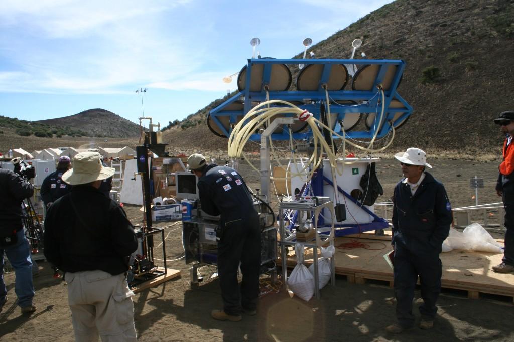 Moon mining test, moonraker