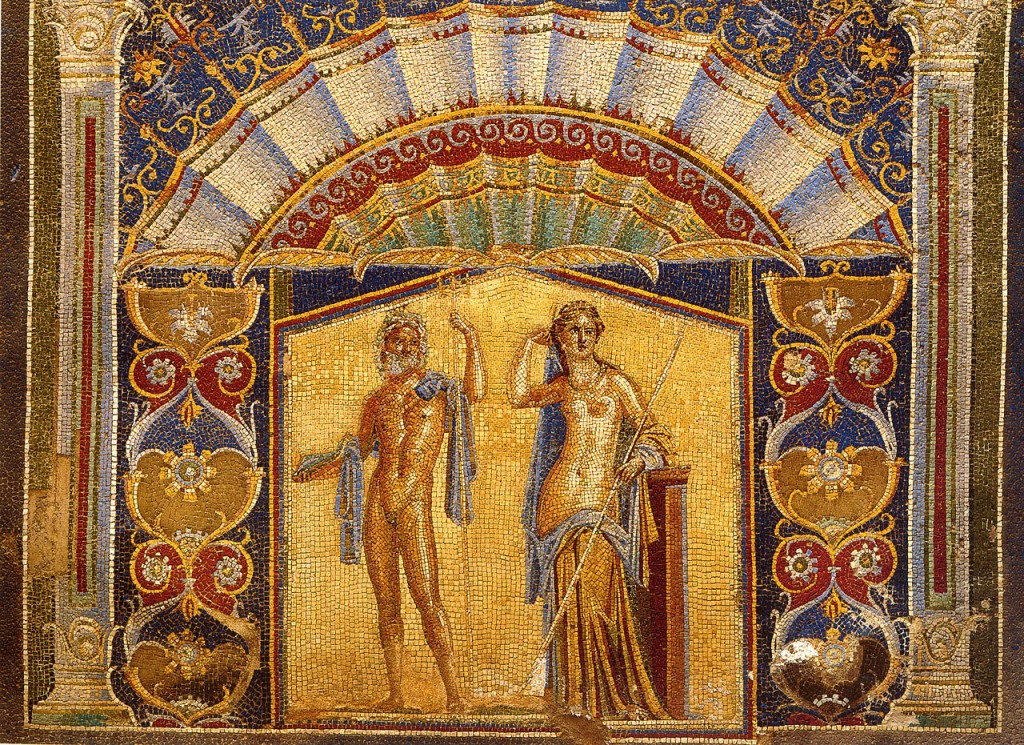 Neptune and Salacia from a Pompeii mosaic