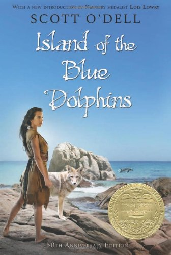 Book cover of Island of the Blue Dolphins.