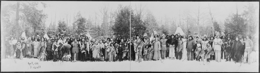 Iroquois people photographed in 1914.